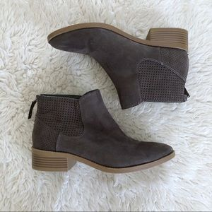 Dolce Vita Taupe Ankle Boots Size 8